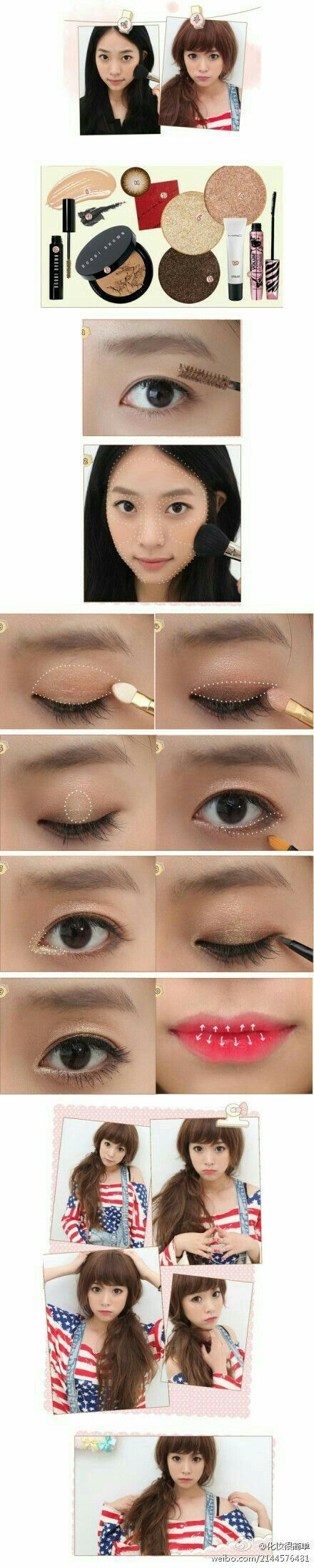 best headtotoe images on pinterest make up looks hair dos and