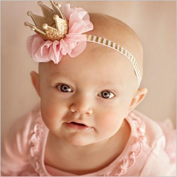 Kids meisjes bloem prinses kroon hoofdband voor pasgeborenen fotografie haaraccessoires kids elastiek haar hoofd band wrap ornamenten