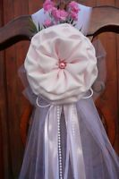 SET OF 6 Wedding decoration Chair Bows, Pew Bows, Arch . Aisle decor, Blush pink