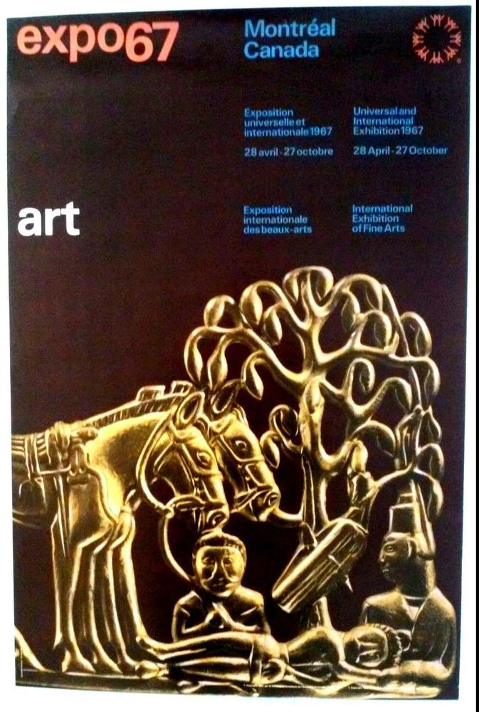 Expo 67 Poster: International Exhibition of Fine Art