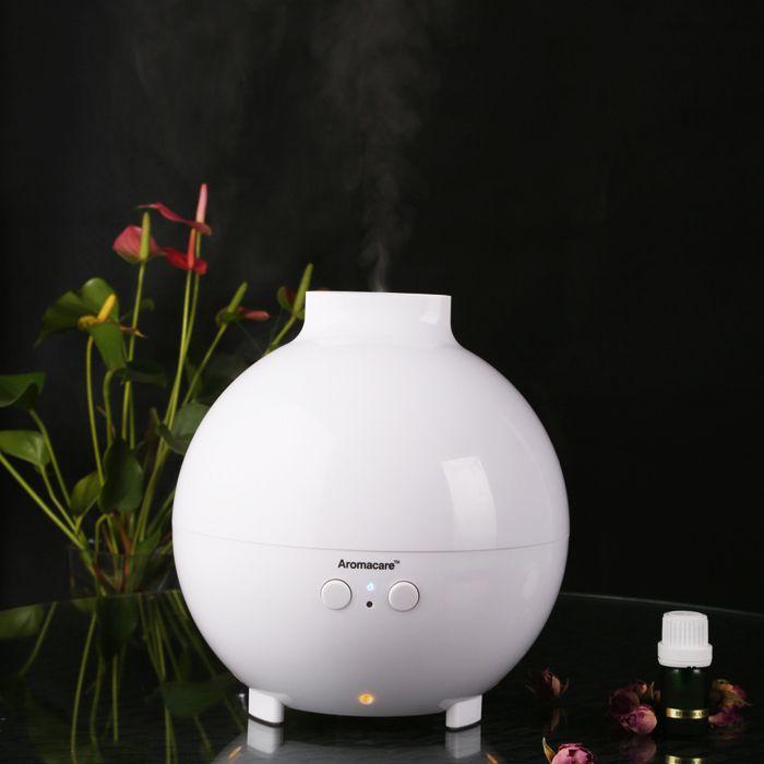 New Arrive Ultrasonic Humidifier Anion Silence 600ml Aroma Purified Air Aromatherapy Lamp Gift Free Shipping MR00105(20006A) $50.69