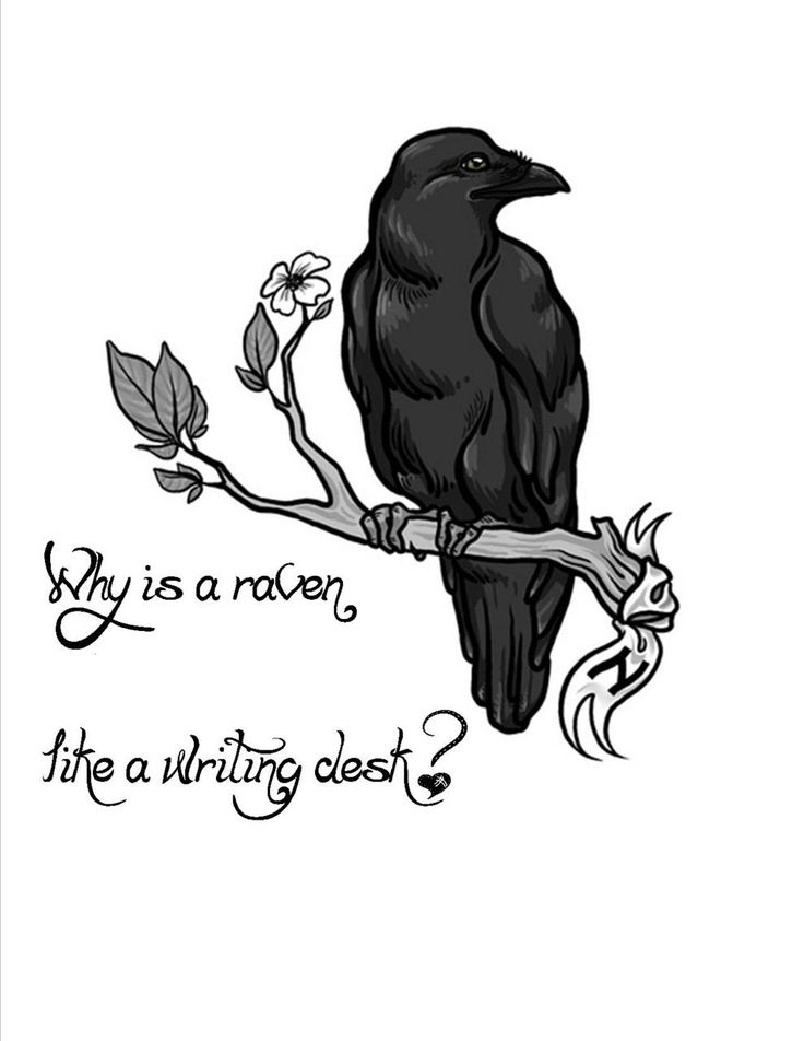 raven writing desk Why is a raven like a writing desk do you have an answer to the riddle here's what it may mean.