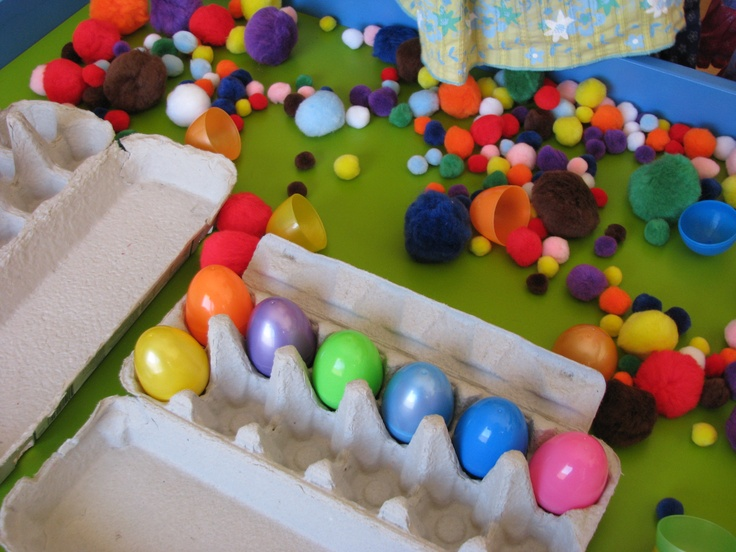 easter sensory table