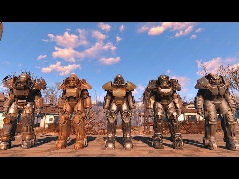 Fallout 4: Full Set Power Armor Walkthrough T45d, Raider T51b, T60, X01 Power Armor - YouTube