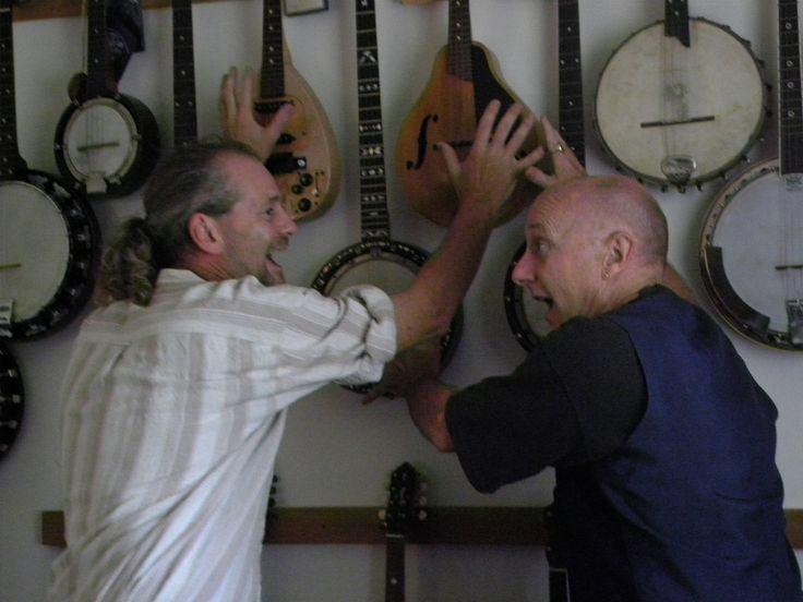 """""""The Stringmen"""" Paul Williams and Mr Bones."""