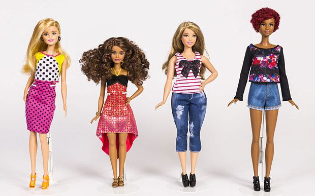 The shape – and size – of Barbies to come: dolls petite, curvy  and tall flank regular Barbie #barbie #dolls
