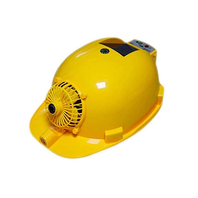 Summer Solar Cooling Hard Hat For Men And Women With Fan And Light