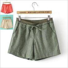 Ropa de grasa pantalones cortos de gran tamaño de las mujeres 2014 nuevo espectáculo de ocio de verano fina edición de han de lino pantalones cortos anchos de piernas(China (Mainland))