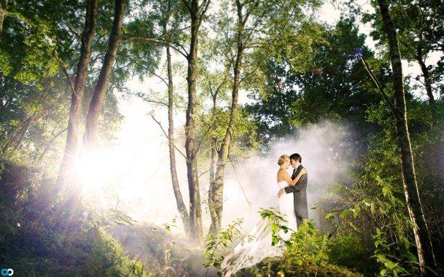 hochzeitsfotografie wald nebel effekte Alex Beckett