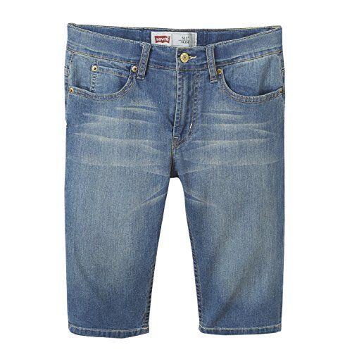 Levi's Bermuda 511, Short Garçon: Short Levis. 511. ModÚle Kids. Denim. Cinq poches. Laver clair. Regular fit. Taille réglable.…