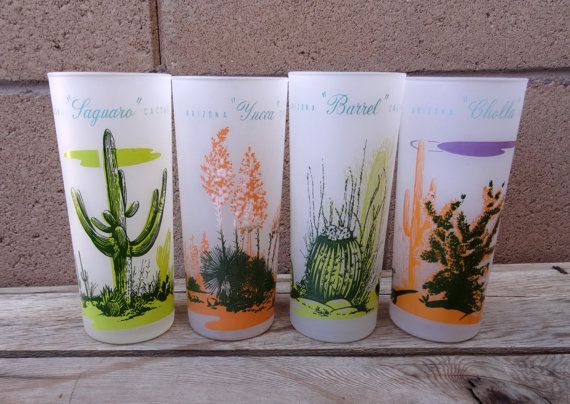 Vintage Blakely Oil And Gas 4 Frosted Glasses by TiesofMyFather
