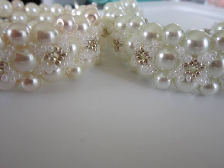 Bracelet FOLLOW ME.   Glass Pearl and SeedBeads.   Браслет Follow Me .