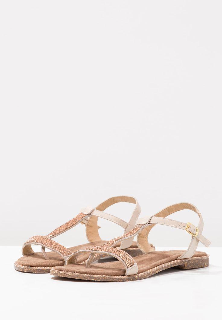Lazamani T-bar sandals - peach - Zalando.co.uk