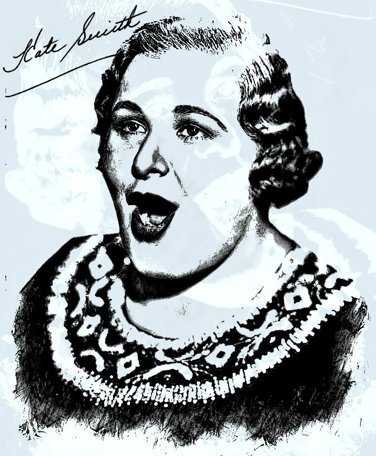 """Kathryn Elizabeth Smith, known professionally as Kate Smith and The First Lady of Radio, was an American singer, a contralto, best known for her rendition of Irving Berlin's """"God Bless America"""""""
