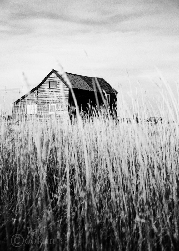 Weathered house black and white signed print