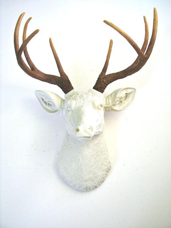 White Deer Head Wall Decor best 10+ white deer heads ideas on pinterest   faux deer head