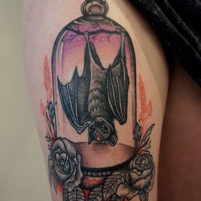 Cute bat tattoo                                                                                                                                                     More