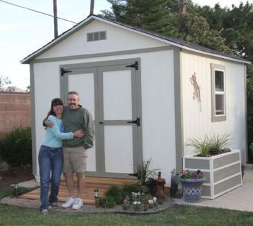 This 10x12 Backyard Storage Shed Was Built By The Perrys Using My 10x12  Gable Shed Plans