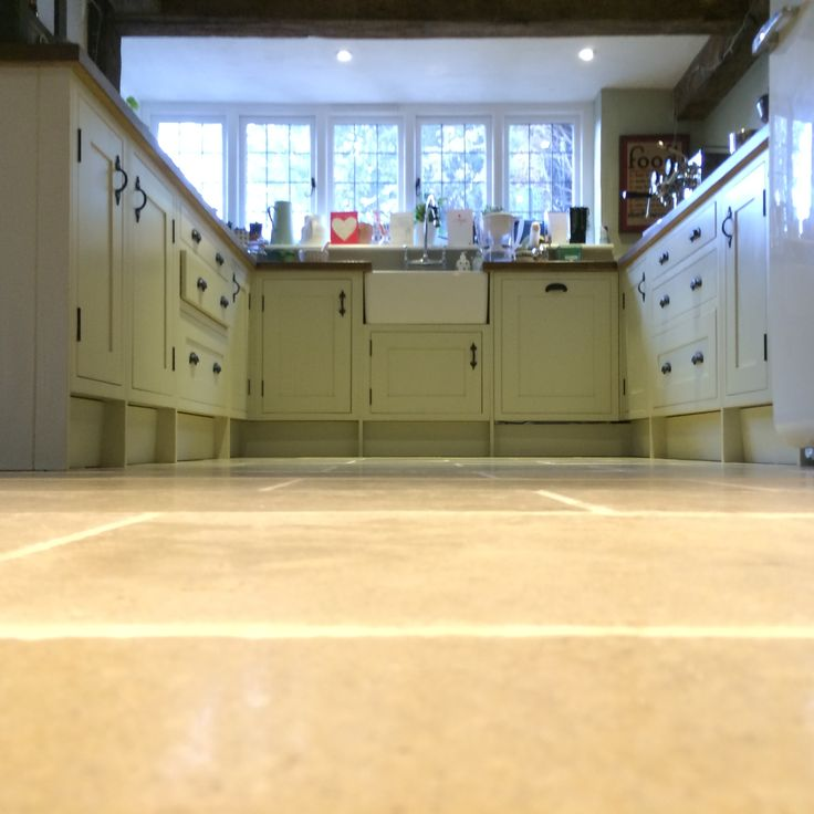 Limestone floor cleaning and sealing Chertsey, Surrey