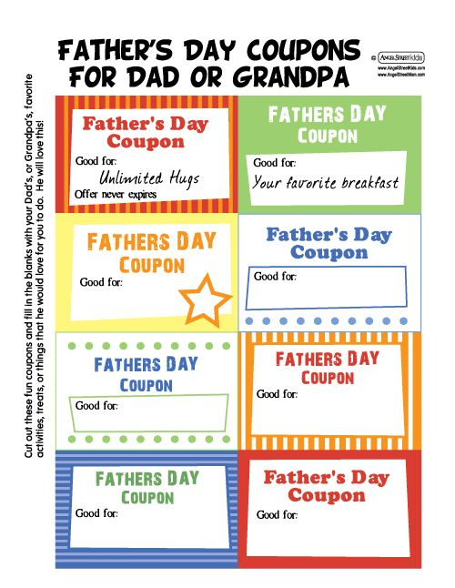 father's day voucher codes