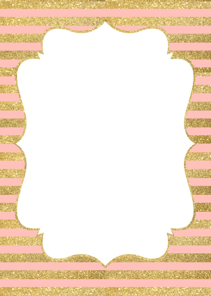 invitation gold and pink