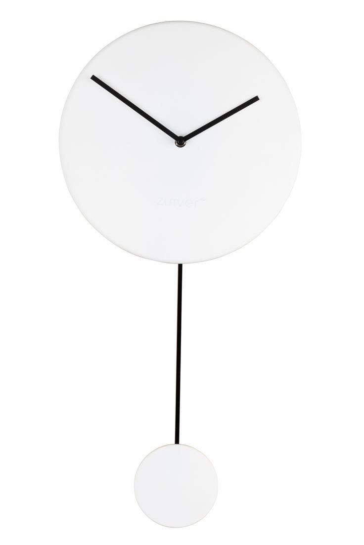 Minimal clock - White #Clock#Orloge#Uhr#klok