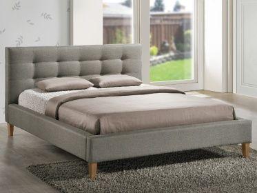 Tapicerowane łóżko Villa w szarej tkaninie to mebel, który pokochają…