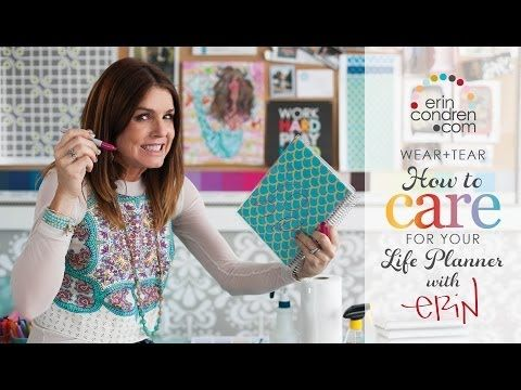 Erin Condren Let's Talk... How To Care For Your LifePlanner - YouTube