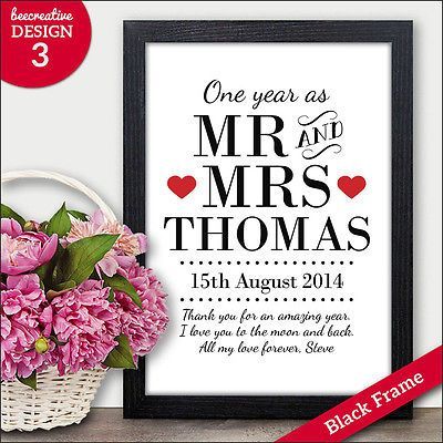 ideas about 1st Anniversary Gifts on Pinterest 1st year anniversary ...