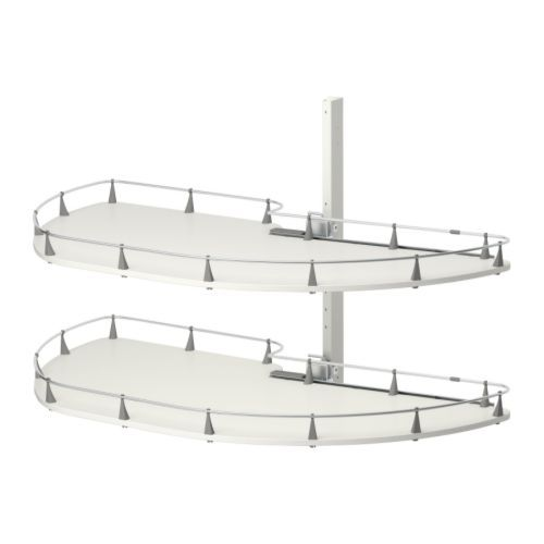 $175 seems a bit steep. How heavy can you stack this corner pull-out shelf? RATIONELL corner base cabinet pull-out fitting   - IKEA