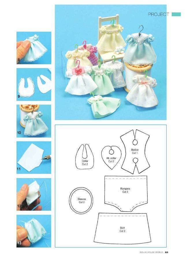 Dolls: Dress for mini dolls