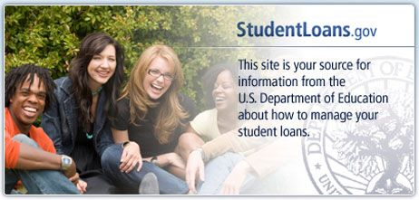 StudentLoans.gov. This site is your source for information from the U.S. Department of Education about how to manage your student loans.  Complete your Entrance, Exit, and Financial Awareness Counseling and Master Promissory Note here!