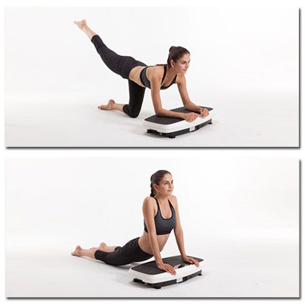 Übungen zum Abnehmen der Vibrationsplattform