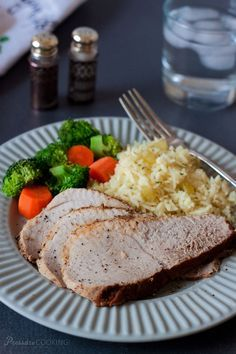 Pork Sirloin Tip Roast in the Pressure Cooker with Saffron Rice Pilaf. Recipes on Pressure Cooking Today.