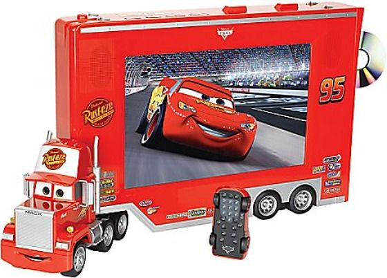 Pixar Cars TV/DVD with Lightning McQueen Remote OMG Haiden needs this