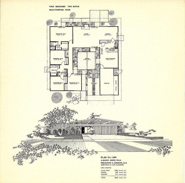 mid century modern floor plans for homes | floor plan 1184 | Flickr - Photo Sharing!