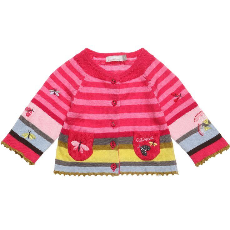 Catimini Pink Striped Cardigan