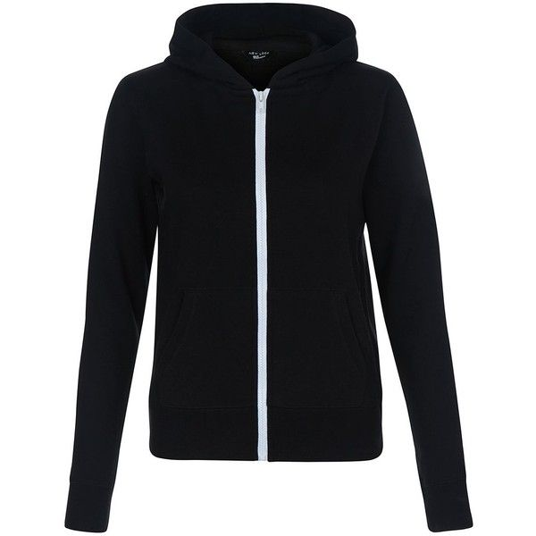 Teens Black Marl Zip Up Hoodie ❤ liked on Polyvore featuring tops, hoodies, black hooded sweatshirt, black zipper hoodie, sweatshirt hoodies, hooded pullover and black zip up hoodie