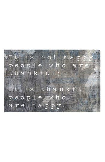 Oliver Gal 'Happy People' Wall Art | Nordstrom quote about thankfulness