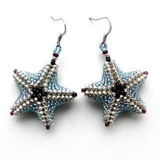 Picture only-starfish earrings by Anabel