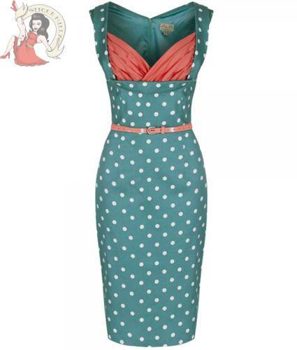 LINDY BOP 50's VANESSA POIS pois ROBE CRAYON FEMME VERT CORAIL in Vêtements, accessoires, Femmes: vêtements, Robes | eBay