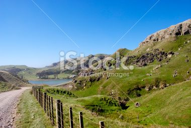 West Coast Dirt Road, Golden Bay, New Zealand Royalty Free Stock Photo