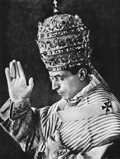 """Pope Pius XII: """"Pope Pius XII (1939-1958): """"No one is permitted to be idle and lazy while so many evils and dangers impend, and while those who are on the other side are working so hard to destroy the very basis of Catholic religion."""""""