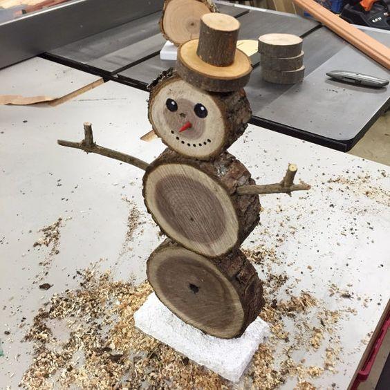 À fabriquer cette année pour décorer le jardin à Noël : des bonshommes de n…