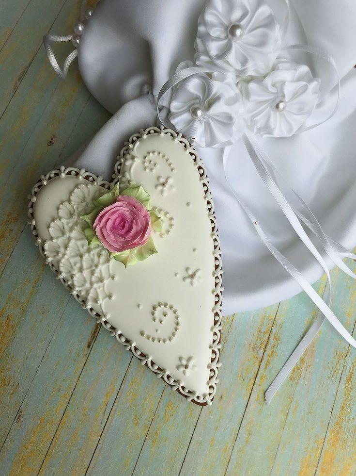Wedding Gingerbread Hearts |  Свадебные подарки – купить в интернет-магазине на Ярмарке Мастеров с доставкой