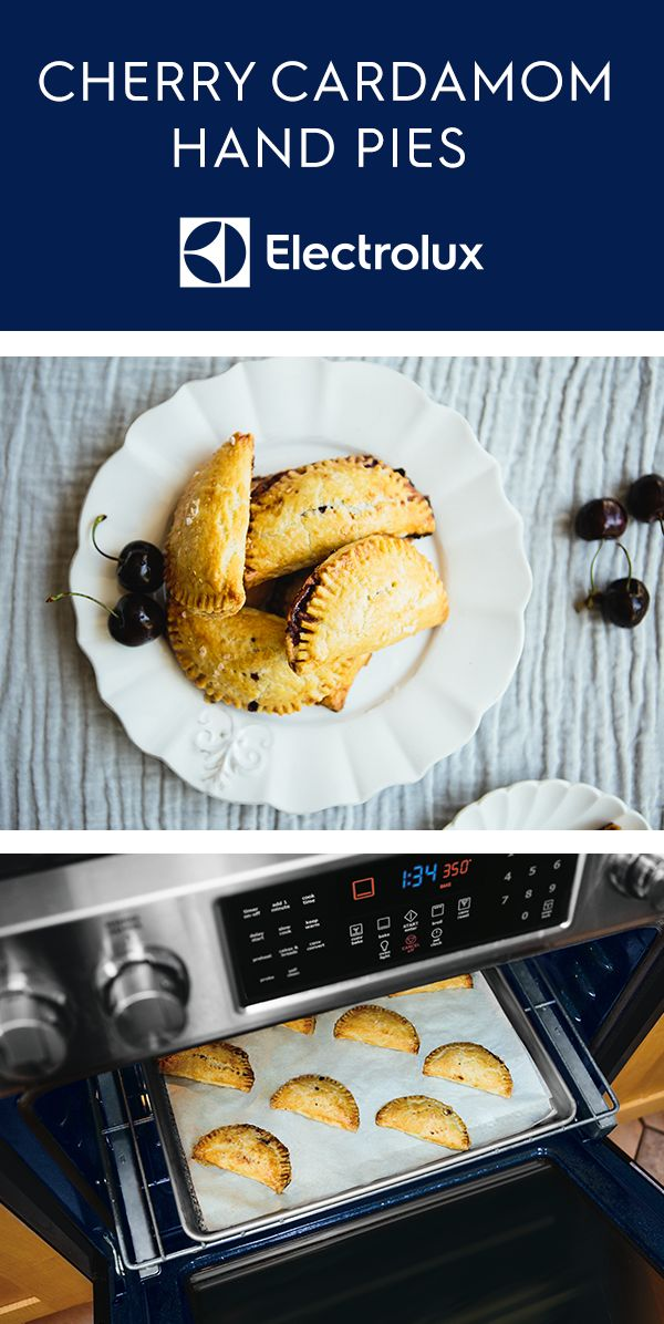 These delicious hand pies from Electrolux and @ashrod of Not Without Salt combine cherries and cardamom for a unique twist on holiday pies. Impress your guests with these flavorful, individual desserts. Click for the full recipe.