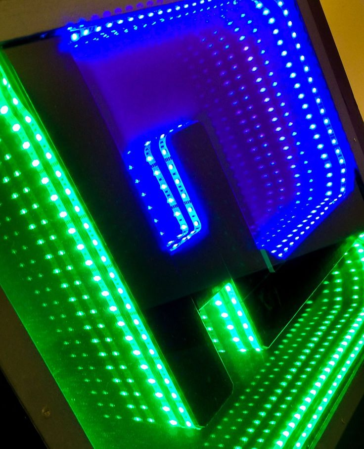 HitLights infinity mirror DIY project using LED strip lights.  sc 1 st  Pinterest & 47 best DIY Lighting Projects images on Pinterest | DIY Balcony ... azcodes.com