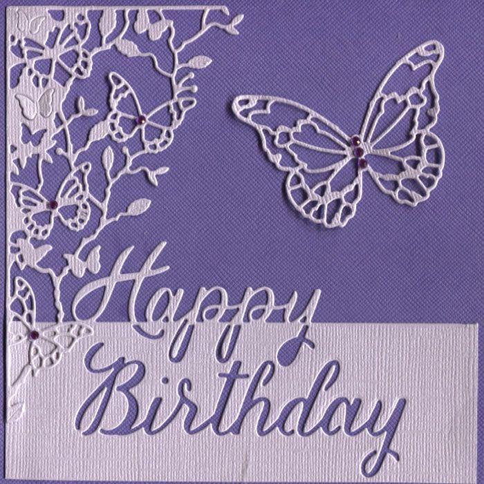 Memory Box - Sylvan Corner Memory Box - Grand Happy Birthday Script Memory Box - Walzing Butterflies