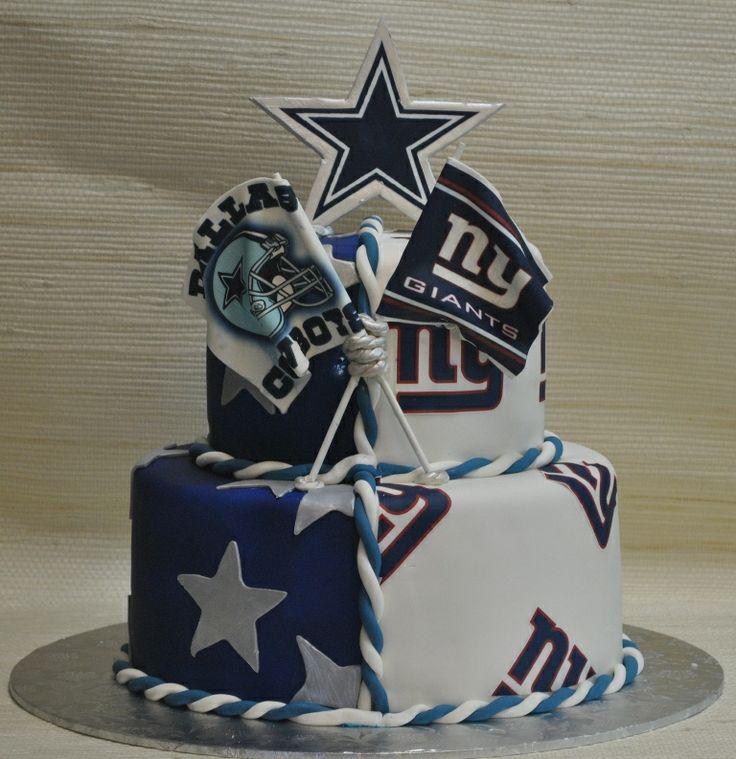 NY Giants-Cowboys-Grooms cake-The cake Zone-Sarasota-Tampa-FL