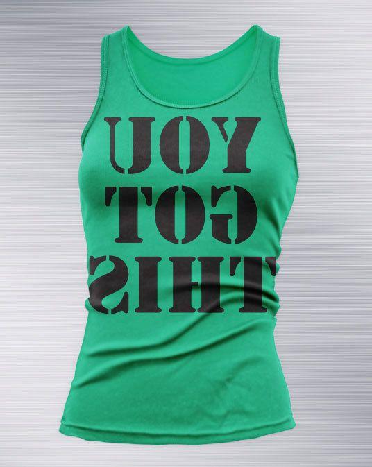 You Got This Backward Mirrored Women's Tank Top (Black Print) Premium T Shirt MMA, Crossfit, Training